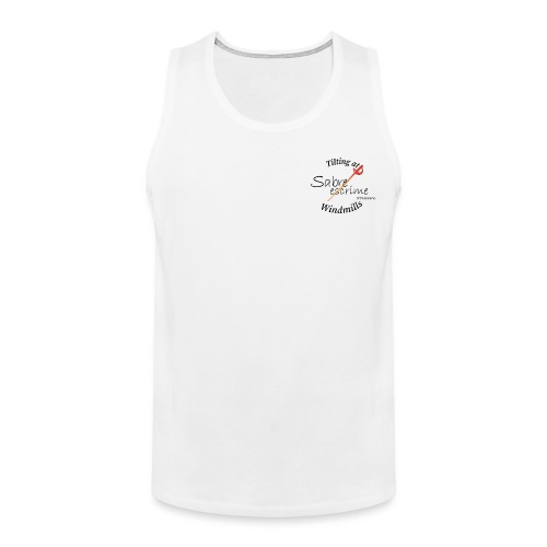 sabre escrime logo with text - Men's Premium Tank