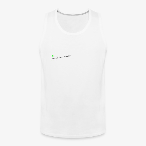 Break The Binary Alien - Men's Premium Tank