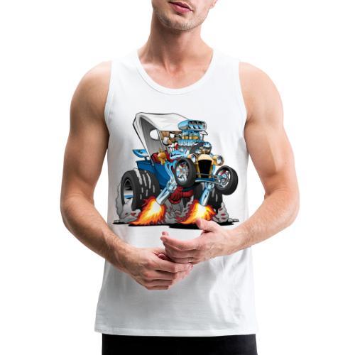Custom T-bucket Roadster Hotrod Cartoon - Men's Premium Tank