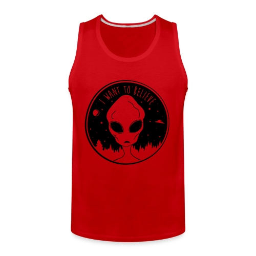 I Want To Believe - Men's Premium Tank