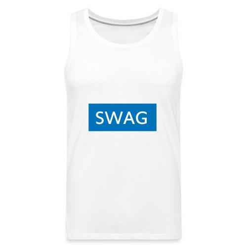 Swag blue Hoodie - Men's Premium Tank