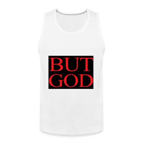 BUT GOD RED BLK BACK - Men's Premium Tank