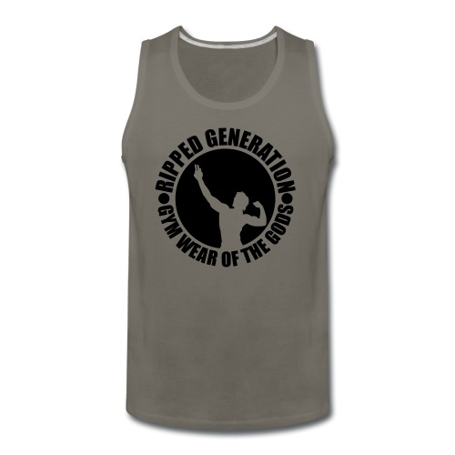 Ripped Generation Gym Wear of the Gods Badge Logo - Men's Premium Tank