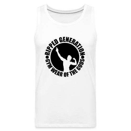 Ripped Generation Gym Wear of the Gods Badge Logo - Men's Premium Tank
