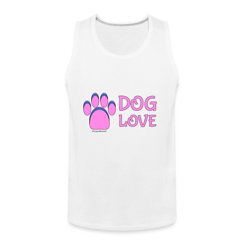 Pink Dog paw print Dog Love - Men's Premium Tank