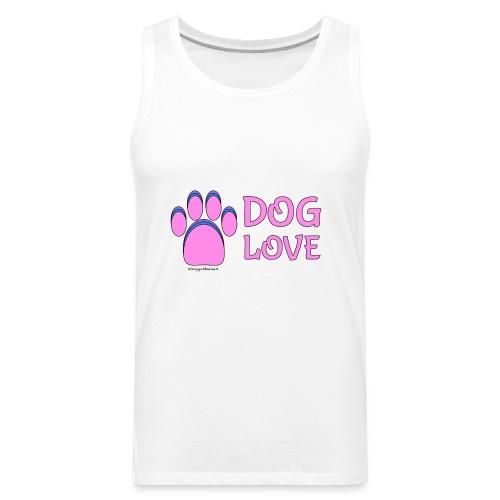 Pink Dog paw print Dog Love - Men's Premium Tank