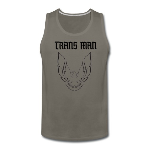 Trans Man B W - Men's Premium Tank