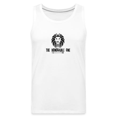 Lion: The Honorable One (Black) - Men's Premium Tank