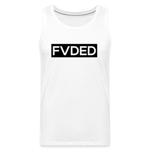 FVDED Cutout Black V1 - Men's Premium Tank