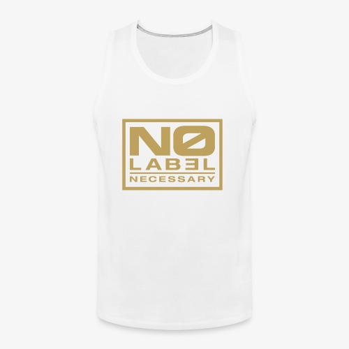 No Label Necessary Gold Logo - Men's Premium Tank