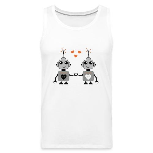 Robot Couple - Men's Premium Tank