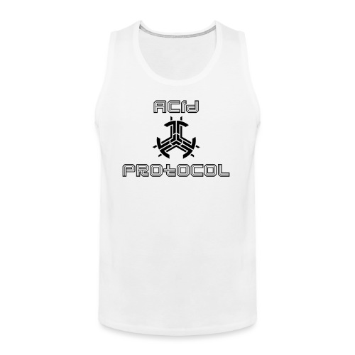 ACID PROTOCOL OFFICIAL LOGO BLACK - Men's Premium Tank