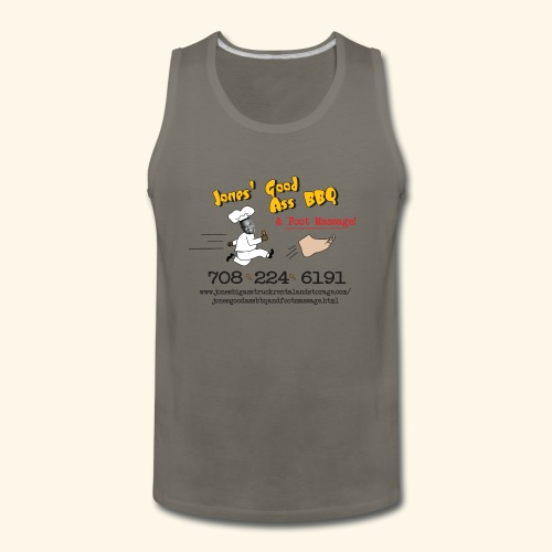 Jones Good Ass BBQ and Foot Massage logo - Men's Premium Tank