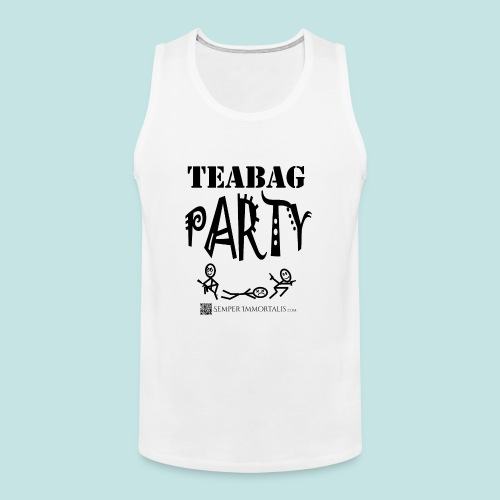 Teabag Party (black) - Men's Premium Tank