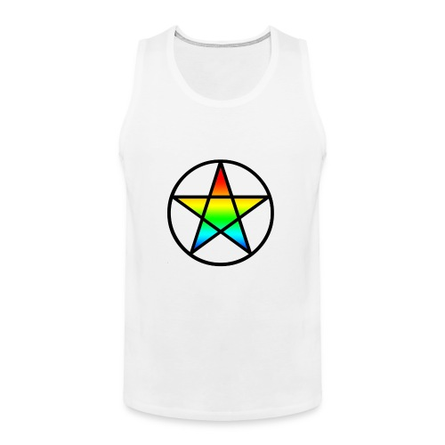 Official Iridescent Tee-Shirt // Men's // White - Men's Premium Tank