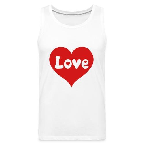 Love Heart - Men's Premium Tank