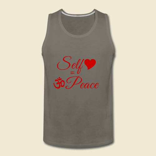 108-lSa Inspi-Quote-83.b Self-love = OM-Peace - Men's Premium Tank
