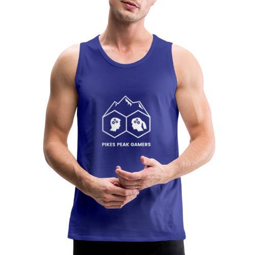 Pikes Peak Gamers Logo (Transparent White) - Men's Premium Tank