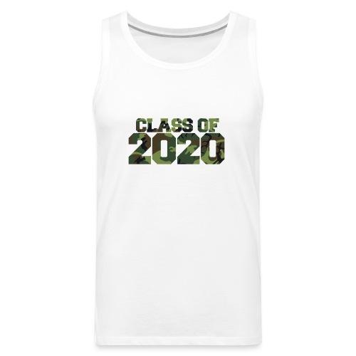 Class of 2020 Camo grad logo - Men's Premium Tank