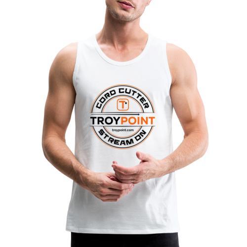 TROYPOINT Cord Cutter - Navy Logo - Men's Premium Tank