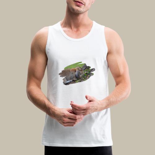 French Lop Brush Stroke - Men's Premium Tank