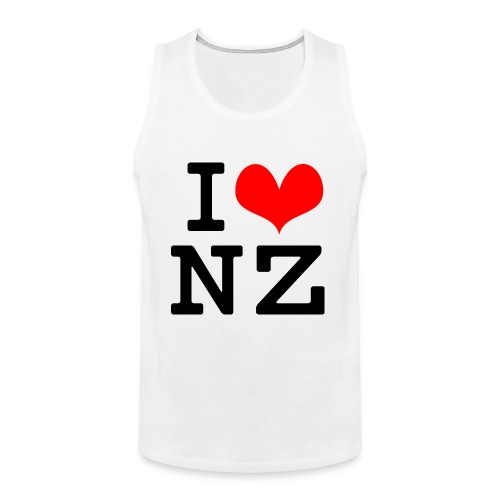 I Love NZ - Men's Premium Tank