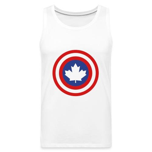 Captain Canada Shield 2 Colour - Men's Premium Tank