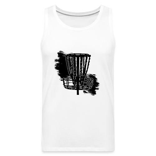 Disc Golf Basket Paint Black Print - Men's Premium Tank