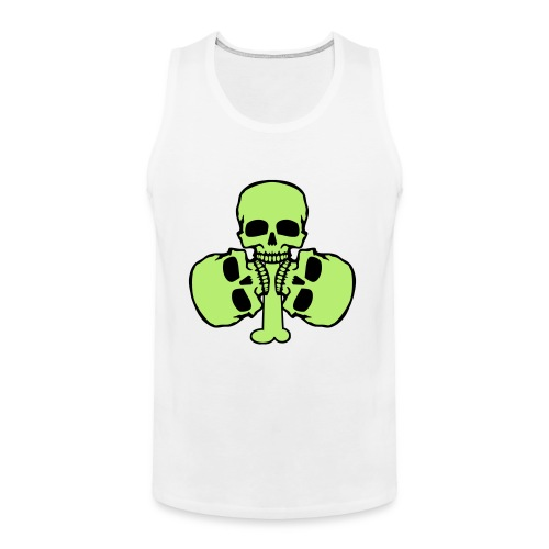 Skull Shamrock w/ Teeth - Men's Premium Tank