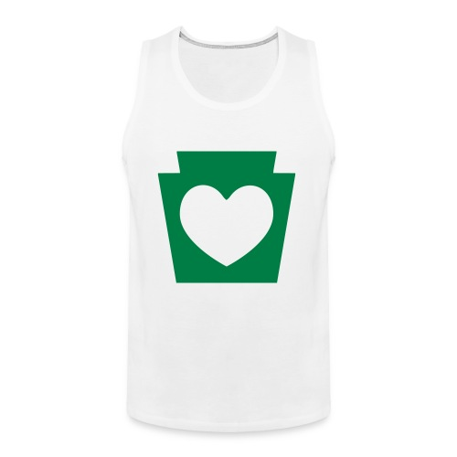 Love/Heart PA Keystone - Men's Premium Tank