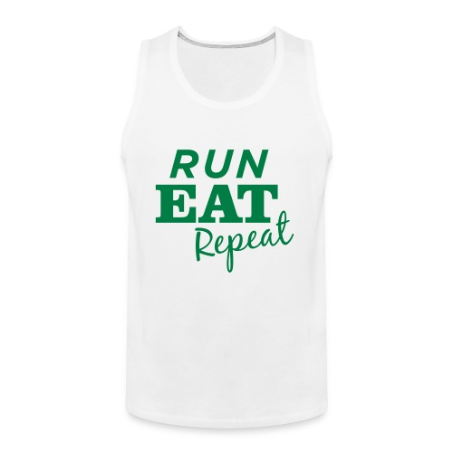 Run Eat Repeat buttons medium - Men's Premium Tank