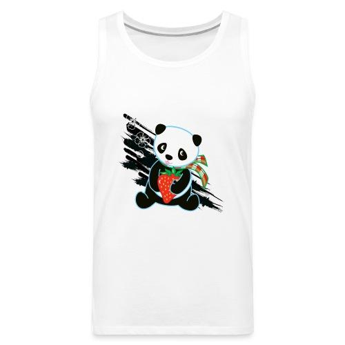 Cute Kawaii Panda T-shirt by Banzai Chicks - Men's Premium Tank