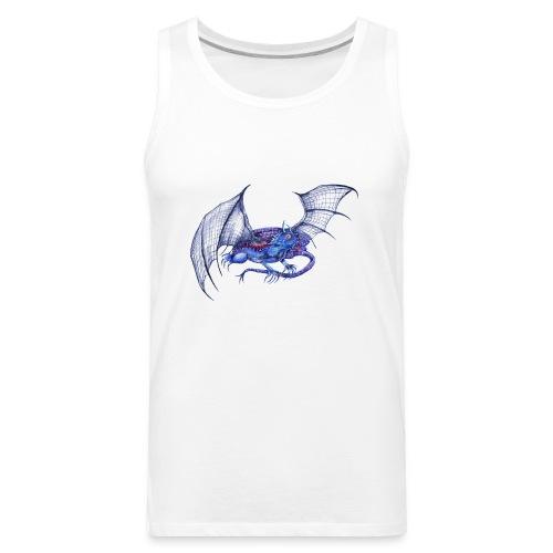 Long tail blue dragon - Men's Premium Tank