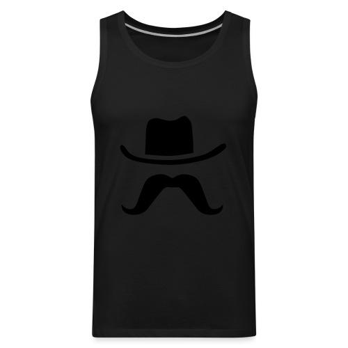 Hat & Mustache - Men's Premium Tank