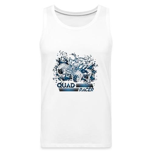 Blue Quad Racer Grunge - Men's Premium Tank
