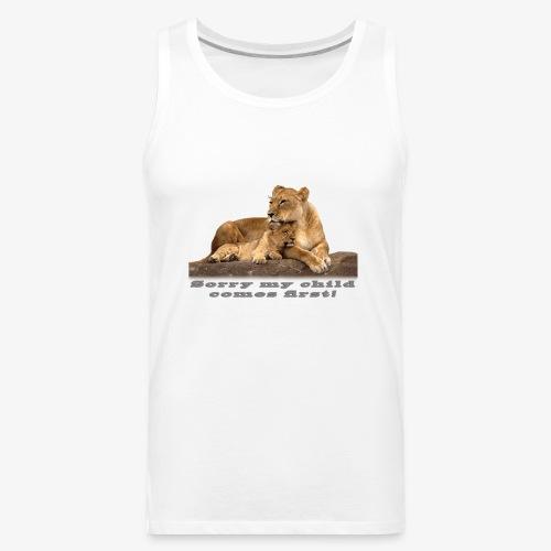 Lion-My child comes first - Men's Premium Tank