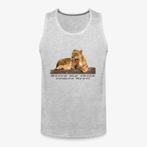 Lion-My child comes first - Men's Premium Tank