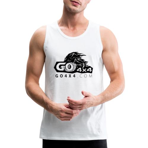go bw white text black - Men's Premium Tank