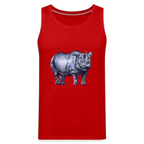One horned rhino - Men's Premium Tank