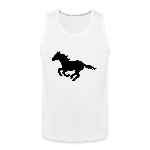 pony horse unbridled wild mustang unbridled rider - Men's Premium Tank