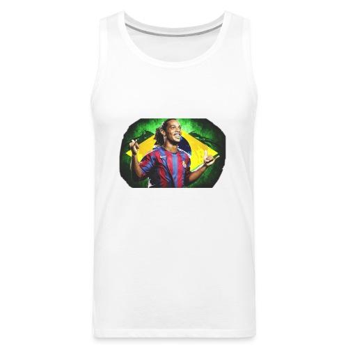 Ronaldinho Brazil/Barca print - Men's Premium Tank