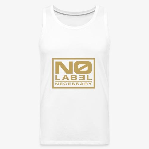 No Label Necessary Gold Logo - Men's Premium Tank