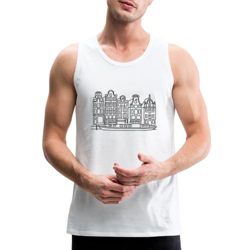 Amsterdam Canal houses - Men's Premium Tank
