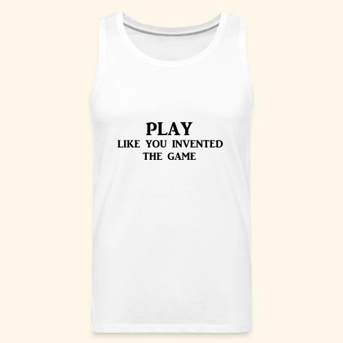 play like game blk - Men's Premium Tank