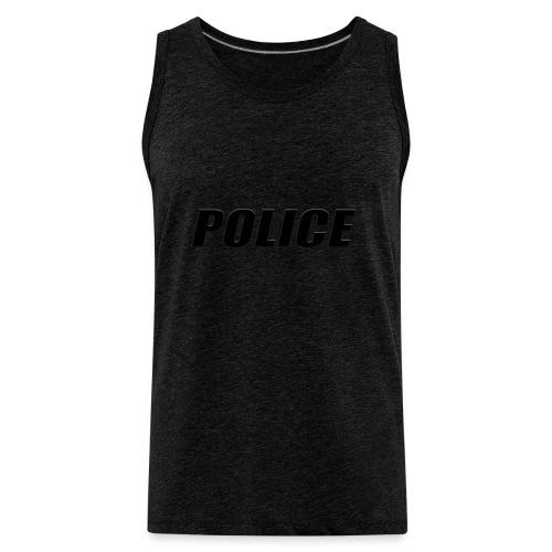 Police Black - Men's Premium Tank