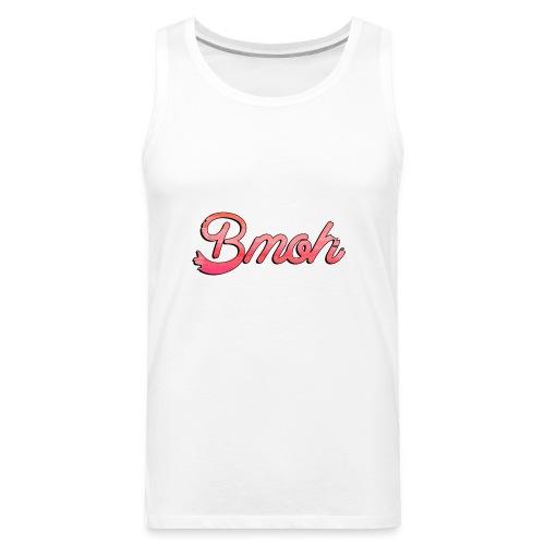Mens Baseball T Pink Bmoh logo - Men's Premium Tank