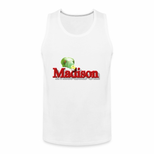 Madison With a Parrot - Men's Premium Tank