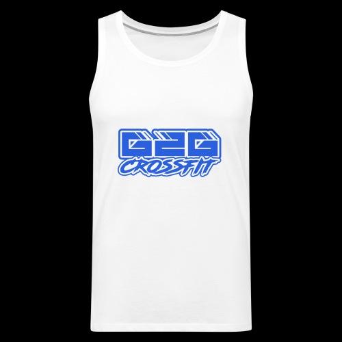 G2G CrossFit Blue Half Logo - Men's Premium Tank