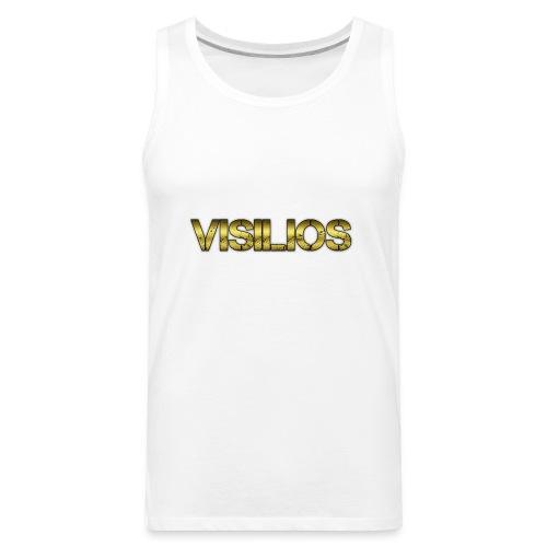 gold visilios logo t- shirt - Men's Premium Tank