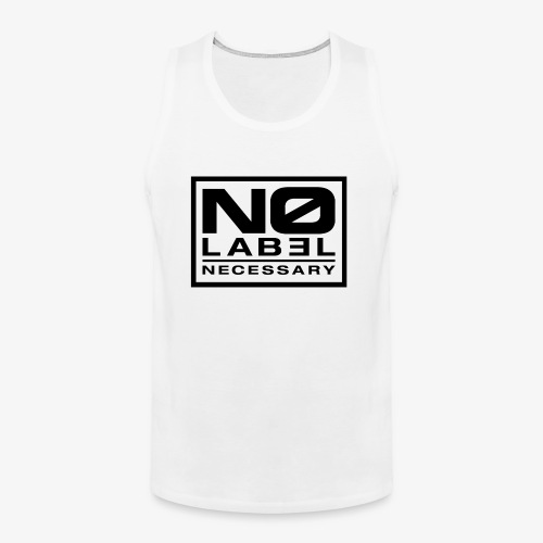 No Label Necessary Logo Black - Men's Premium Tank